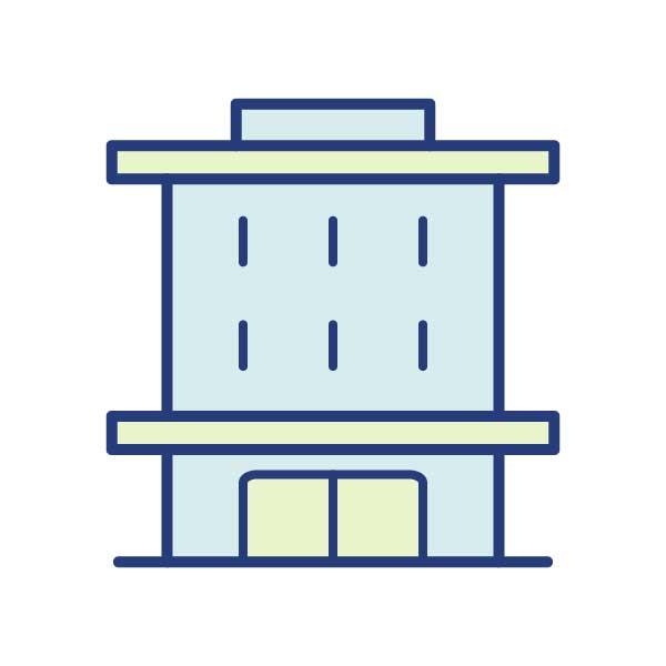 Büro- oder Lagergebäude
