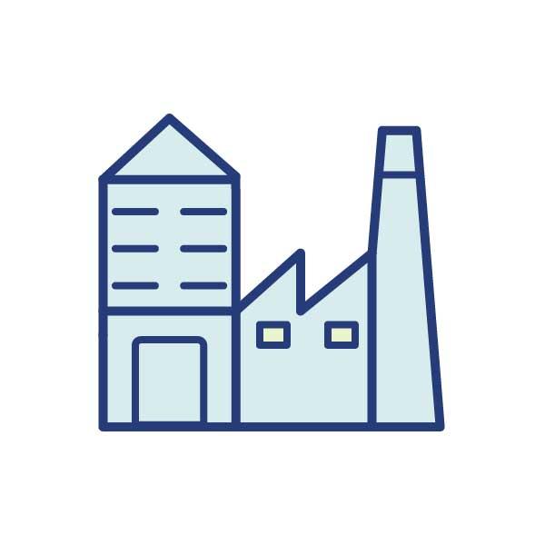 Industrie- oder Gewerbegebäude